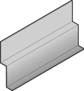 profil de d part en aluminium pour bardage cedral operal lon 3 00m coloris beige sahara. Black Bedroom Furniture Sets. Home Design Ideas