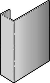 Profil de raccordement en aluminium pour bardage CEDRAL - OPERAL long.3,00m coloris blanc crème - Gedimat.fr