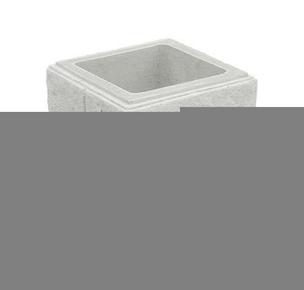 el ment de pilier cheverny 30x30cm coloris blanc. Black Bedroom Furniture Sets. Home Design Ideas