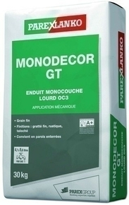 Enduit monocouche lourd grain fin MONODECOR GT sac de 30kg coloris O232 - Gedimat.fr