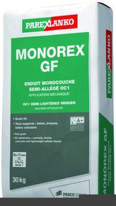 Enduit monocouche semi-allégé grain fin MONOREX GF sac de 30kg coloris G174 - Gedimat.fr