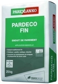 Enduit de parement traditionnel PARDECO FIN sac de 25kg coloris R48 - Gedimat.fr
