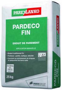 Enduit de finition PARDECO FIN T10 grège - sac de 25kg - Gedimat.fr