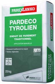 Enduit de finition PARDECO TYROLIEN T30 terre d'argile - sac de 25kg - Gedimat.fr