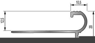 Nez de marche FLORENTIN larg.12,5mm long.2,50m - Gedimat.fr