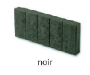 Bordure palissade Mambo rectangulaire ép.6cm dim.50x20cm coloris noir - Gedimat.fr