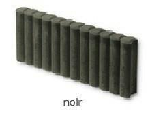 Bordure palissade Mambo ronde ép.8cm dim.50x35cm coloris noir - Gedimat.fr