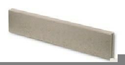 Bordure droite Mambo ép.6cm dim.100x20cm coloris gris - Gedimat.fr