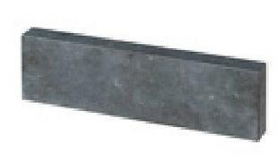 Bordure droite Mambo Bluestone en pierre naturelle ép.5cm dim.100x15cm coloris bleutée - Gedimat.fr