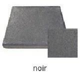Dalle terrasse Rumba ép.4cm dim.40x40cm coloris noir traité - Gedimat.fr