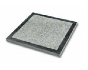 Dalle pierre naturelle Rox Bluestone Bouchardée + bords ép.2,5cm dim.40x40cm coloris bleutée - Gedimat.fr