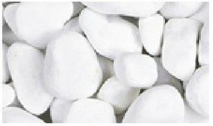 Galets blancs granulométrie 40/60mm sac de 25kg - Gedimat.fr