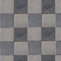 Pavé tambouriné IN-LINE ép.6cm dim.20x20cm coloris gris noir - Gedimat.fr