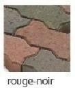 Pavé à emboitement ép.5cm dim.24x11,5cm coloris rouge noir - Gedimat.fr