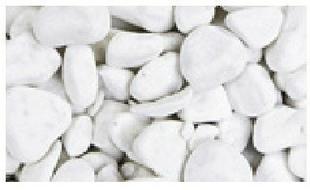 Gravier décoratif en pierre naturelle CARRARA rond 2,5-4cm sac de 25 kg coloris marbre blanc - Gedimat.fr