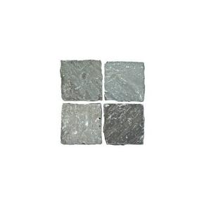 Pavé carré en grès indien Cobles 140x140mm gris - Gedimat.fr