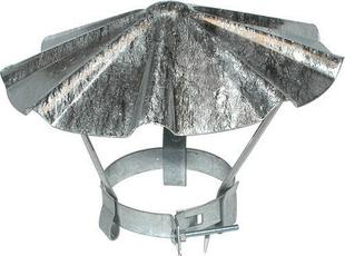 Chapeau chinois en acier galvanisé à chaux N°3 diamètre du tuyau 125 à 144mm - Gedimat.fr