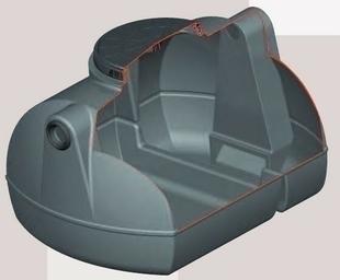 bac d graisseur 500l en poly thyl ne. Black Bedroom Furniture Sets. Home Design Ideas