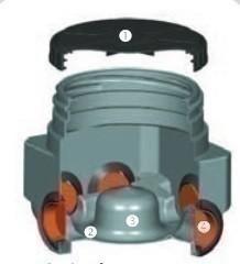 Boîte de répartition cunette polyéthylène 6 entrées diam.10cm 6 sorties diam.10cm haut.40cm - Gedimat.fr