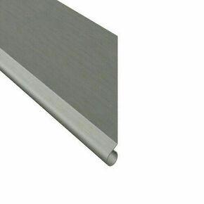 Bande de rive en zinc naturel ép.0,65mm dév.20cm long.2,00m - Gedimat.fr