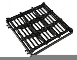 Grille fonte C250 carrée plate avec cadre de 40x40cm - Gedimat.fr