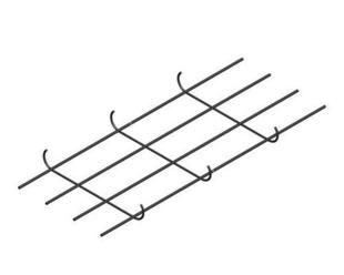 Semelle de fondation plate S45 larg.45cm 4 aciers HA8 long 6m - Gedimat.fr