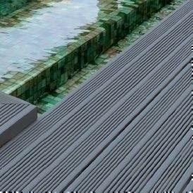 Parfait Lame De Terrasse Composite JAZZ ép.21mm Larg.150mm Long.2,85m Gris  Anthracite
