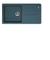 Evier à encastrer 1 grand bac Malta fragranit+ larg.50cm long.97cm graphite - Gedimat.fr