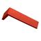 Plaquette d'angle en terre cuite long.22cm larg.10,5cm haut.5,4cm ép.1,5cm ligne brique étirée unie coloris terre rouge - Gedimat.fr