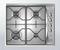 Plaque de cuisson 4 feux gaz (1000W, 2 x 1650W, 3000W) WHIRLPOOL 60cm coloris inox - Gedimat.fr