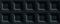 Carrelage pour mur en faïence brillante BLACKANDWHITE larg.20cm long.50cm coloris cubic black - Gedimat.fr