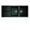 Evier à encastrer 2 bacs + 1 égouttoir MIDWAY en SMC larg.50cm long.1,16m graphite - Gedimat.fr