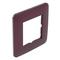 Plaque de finition simple CASUAL coloris prune mat - Gedimat.fr