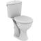 WC surélevé sortie horizontale ASTOR en porcelaine haut.73,55cm larg.68cm long.39,5cm blanc - Gedimat.fr
