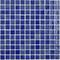 Emaux de verre de 2,5x2,5cm antidérapant NIEVE sur trame de 31,1x31,1cm coloris azul marino - Gedimat.fr