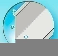 Couvre joint d'angle aluminium brut à coller développement 80mm long.2m - Gedimat.fr