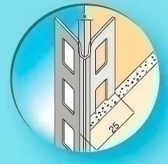 Protège-angle pour cloisons traditionnelles galvanisé angle vif long.2,50m - Gedimat.fr