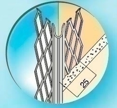 Protège-angle pour cloisons traditionnelles acier déployé angle vif long.2,50m - Gedimat.fr