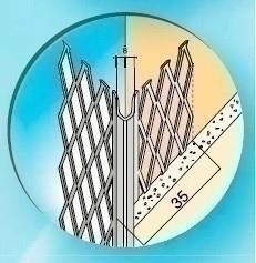 Protège-angle pour cloisons traditionnelles acier déployé angle vif ailes de 35 mm long.2,50m - Gedimat.fr