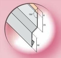 Solin joint mastic long.2m coloris acier laqué gris - Gedimat.fr