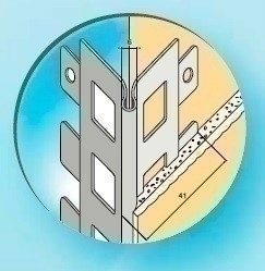 Protège-angle en acier galvanisé perforé sans jonc ép.10mm long.3,00m - Gedimat.fr