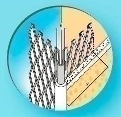 Protège-angle sortant en acier galvanisé déployé perforé avec jonction PVC noir long.3,00m - Gedimat.fr