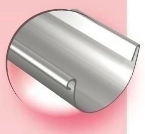 Gouttière demi-ronde avec pince zinc naturel ép.0,65mm développé 333mm long.4m - Gedimat.fr