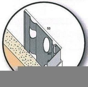 Modénature perforée pour enduits grattés avec jonc PVC coloris 314 marron long.3m ép.15mm - Gedimat.fr
