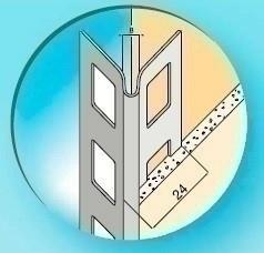 Protège-angle pour cloisons traditionnelles aluminium rebforcé angle allongé long.2,50m - Gedimat.fr