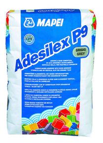 Mortier colle amélioré ADESILEX P9 MAPEI sac de 25kg classe C2E coloris gris - Gedimat.fr