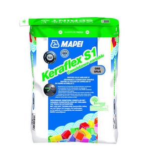 Mortier colle gris amélioré et déformable KERAFLEX S1 sac de 25kg - Gedimat.fr