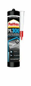 Colle Pattex PL100 fixation polymère cartouche de 300ml blanc - Gedimat.fr