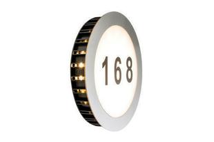 Applique de façade LED IP44 avec numéro de porte 1x5,6W - Gedimat.fr