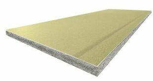 Doublage polystyrène graphite PREGYTHERM DUR BA13+120 - 2,60x1,20m - R=3,80m².K/W - Gedimat.fr
